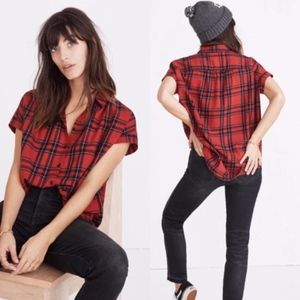 Madewell Tops - madewell | central shirt in dahl plaid sz XS